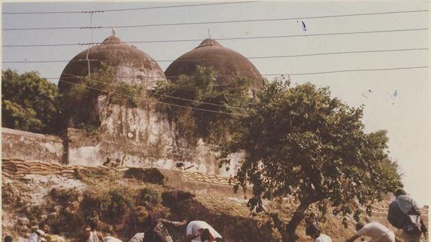 Babri Masjid in Ayodhya - HT Photo.