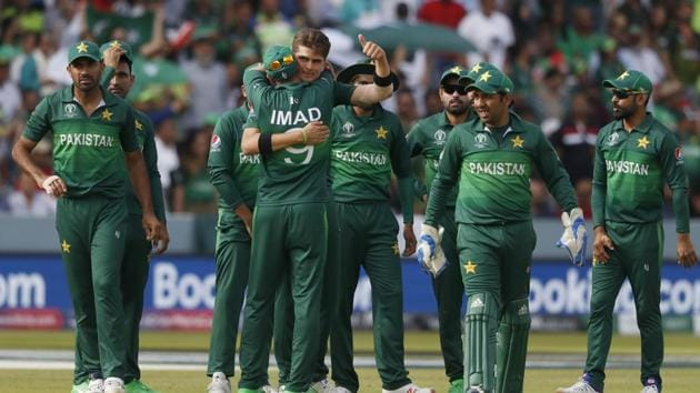 Pakistan national cricket team at the 2019 World Cup.(AP)