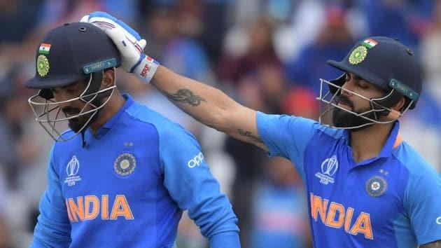 File image of India skipper Virat Kohli and KL Rahul (L).(AFP)