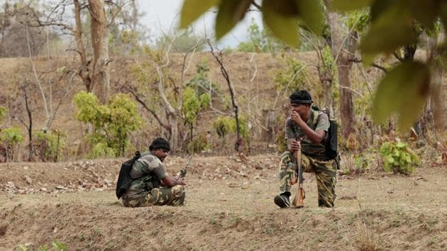 Seven alleged Maoists were killed in an encounter with security forces in Rajnandgaon district.(Ajay Aggarwal/Hindustan Times (Representative image))