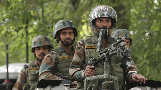 A Jaish-e-Mohammed militant has been eliminated in an encounter in south Kashmir.(AP Photo (Representative image))