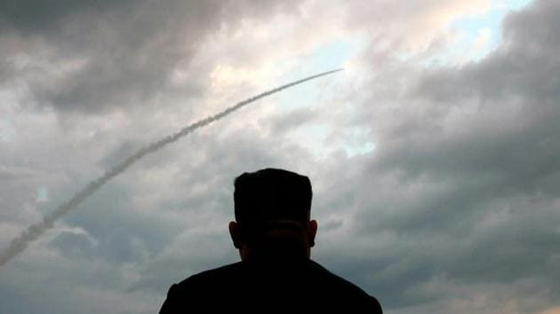 President Donald Trump said on Friday that North Korea's recent tests of short-range rockets and missiles may run afoul of United Nations resolutions but haven't violated agreements with his administration.(AFP)