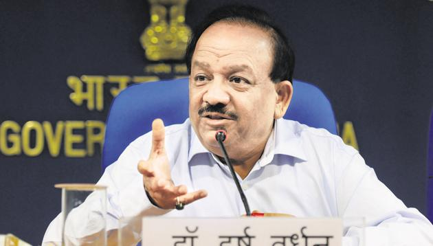 Union health minister Harsh Vardhan(Hindustan Times file photo)