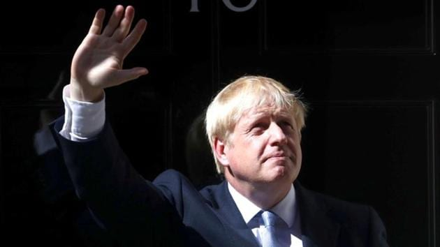UK Prime Minister Boris Johnson unveiled 1.8 billion pounds ($2.2 billion) in additional funding for the National Health Service.(Reuters File Photo)