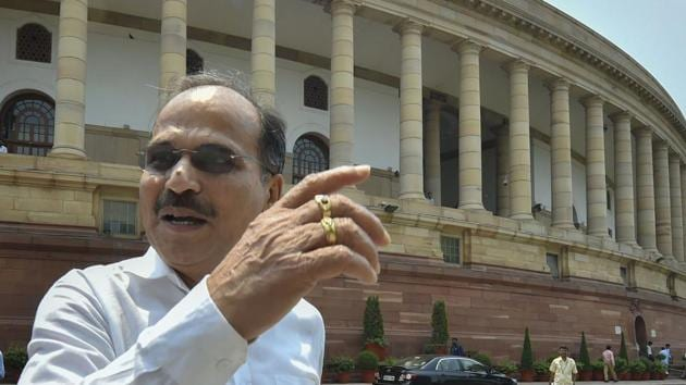 Congress MP from West Bengal Adhir Ranjan Chowdhury urged Congress and Left to unite against BJP and TMC in West Bengal.(PTI)