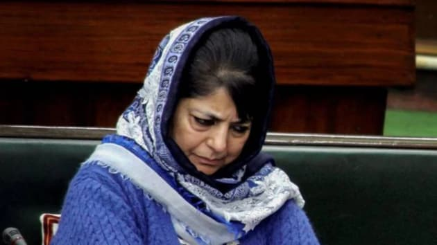 Former chief minister of jammu and Kashmir, Mehbooba Mufti.(PTI image)