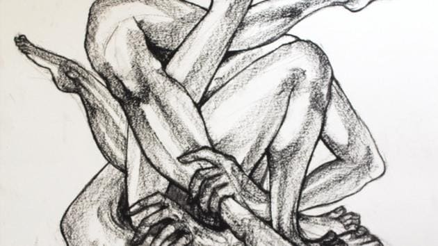 Human bodies and expressions are the focal point of an ongoing group art exhibition at the Triveni Kala Sangam here.(Triveni Kala Sangam website)