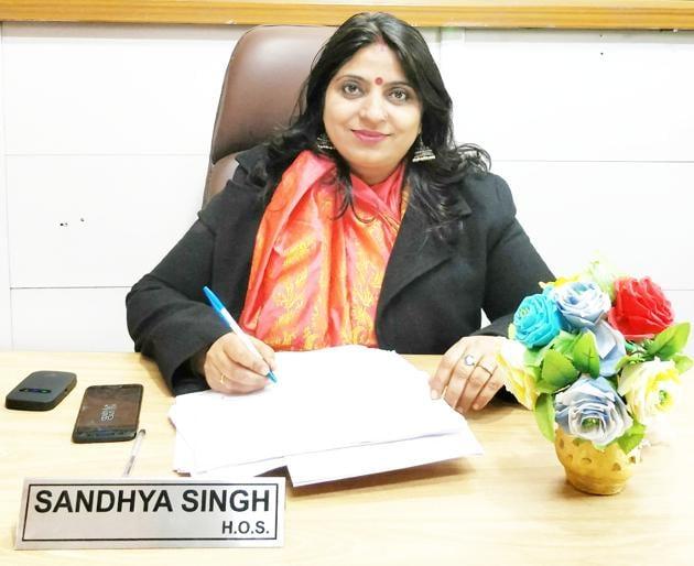 Sandhya Singh, principal, Government Girls Senior Secondary School, Mayur Vihar Phase 3(HT)