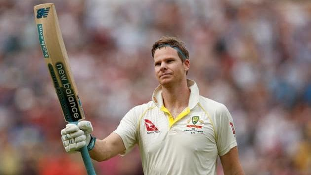 Australia's Steve Smith gestures as he leaves the field.(Action Images via Reuters)