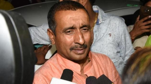 In the last 14 months, expelled BJP MLA Kuldeep Singh Sengar, who is accused of raping an Unnao girl and attempting to kill her, had more than 10, 000 visitors in Sitapur jail, where he was lodged till now.(Subhankar Chakraborty/HT PHOTO)