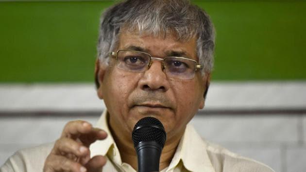 Vanchit Bahujan Aaghadi chief Prakash Ambedkar(Anshuman Poyrekar/HT Photo)