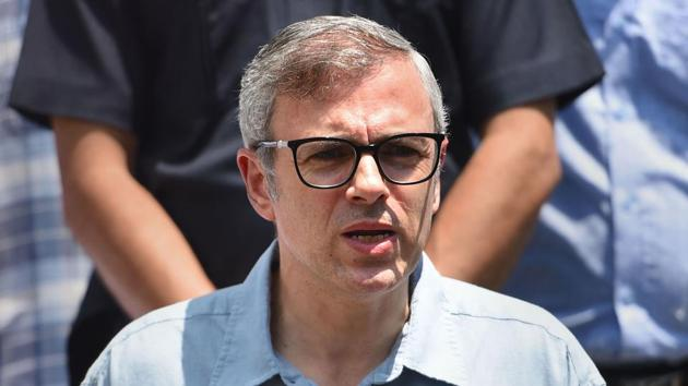 Jammu and Kashmir National Conference Vice President Omar Abdullah addresses a press conference, in Srinagar, Saturday, Aug. 3, 2019.(Photo:PTI)