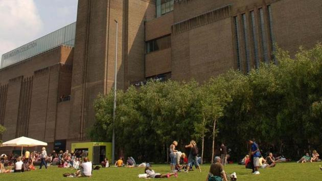 London's Tate Modern gallery , Britain's most popular visitor attraction, was evacuated but was due to reopen on Monday.(AFP Photo)