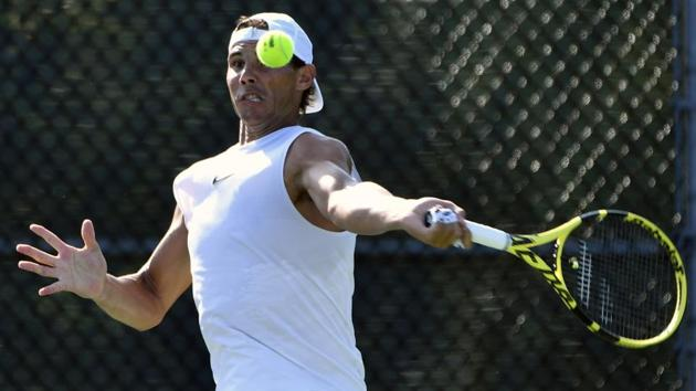 Rafael Nadal of Spain practices during the Rogers Cup tennis tournament.(USA TODAY Sports)