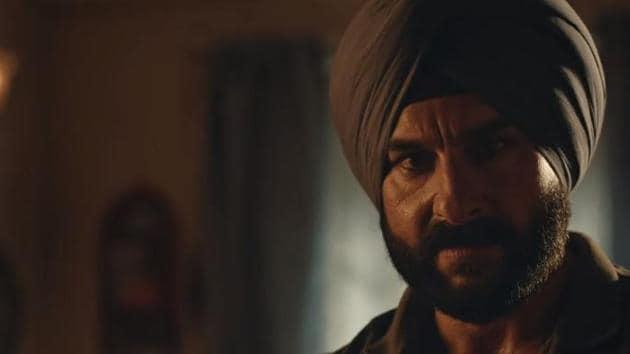 Saif Ali Khan in a still from Sacred Games season 2.