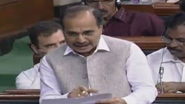 The Congress' floor leader Adhir Ranjan Chowdhury asked the government whether Kashmir is an internal matter. India has always maintained that Jammu and Kashmir is an integral part of India.(ANI image)