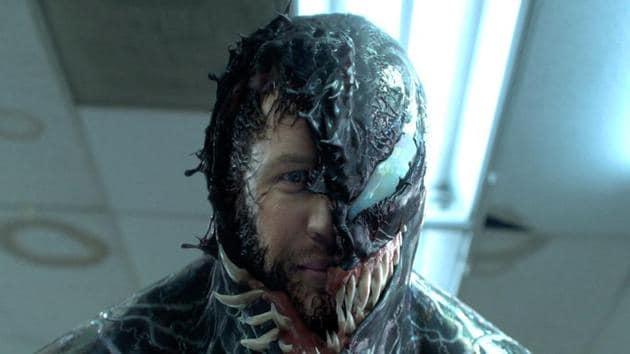 Tom Hardy as Eddie Brock/Venom.