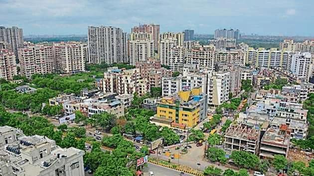 The Ghaziabad administration has decided to scrap rates of green belts and lower parking charges in some areas.(HT Photo)