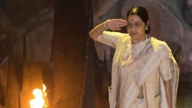 Late Sushma Swaraj.(Twitter image)