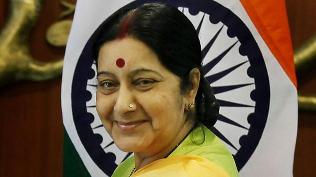 Just hours before her death, veteran BJP leader and former external affairs minister Sushma Swaraj had tweeted thanking Prime Minister Modi after Parliament scrapped Article 370, which provided for special status of Jammu and Kashmir.(Raj K Raj/ Hindustan Times)