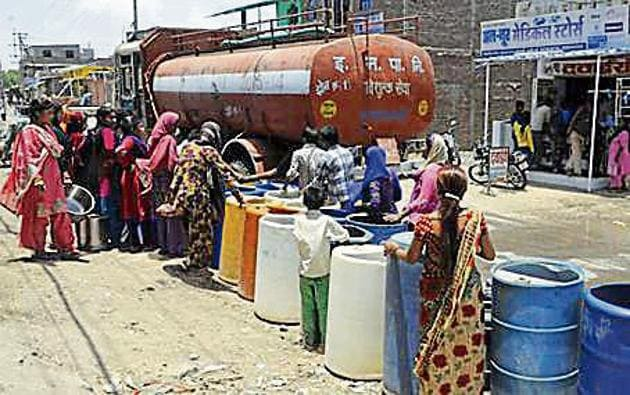 According to the report, increase in demand for water is mainly owing to the increasing population in the city and the projected improvement of the standard of living of its citizens.(Arun Mondhe/HT phot)