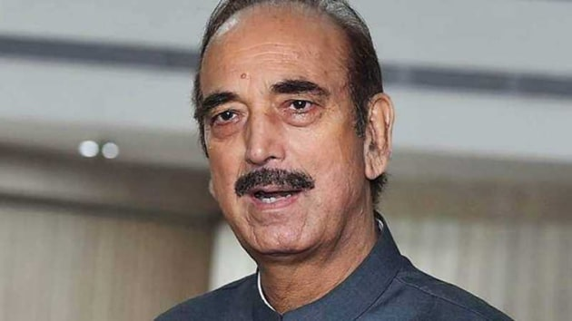 Ghulam Nabi Azad was accompanied by(PTI FILE)