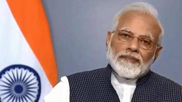 Prime Minister Narendra Modi hit out at Pakistan while explaining why his government annulled Jammu and Kashmir's special status(Videograb)