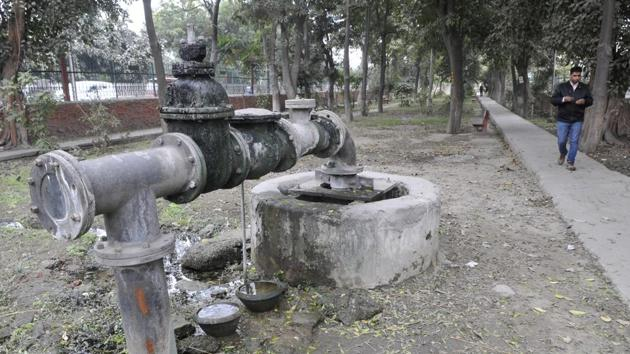 After covering urban areas under the Jal Shakti Abhiyan programme, the district administration will now reach rural areas with the aim of conserving and harvesting water.(Photo by Gurminder Singh/Hindustan Times)
