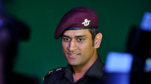 File image: Mahendra Singh Dhoni arrives at a function after bring conferred the rank of Lieutenant Colonel in the Territorial Army in New Delhi on November 1, 2011.(AFP)