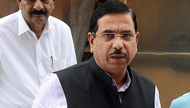 Pralhad Joshi said floor coordination became crucial in pushing through the crucial provisions related to Jammu and Kashmir on the last two days of the session that ended on(ANI Photo)