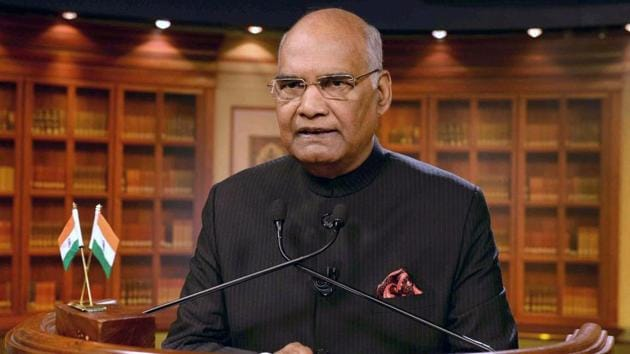 President Ram Nath Kovind gives his assent to The Jammu and Kashmir Reorganisation Act, 2019 on Friday.(Photo: PTI)