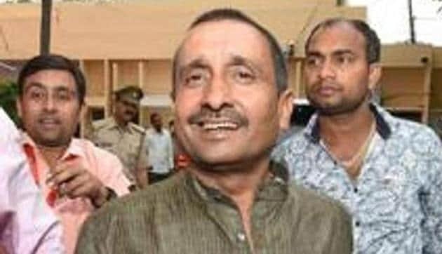 EX-BJP MLA Kuldeep Singh Sengar was arrested by the CBI in Unnao rape case, in Lucknow .(PTI Photo)