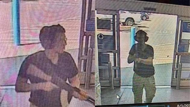 TOPSHOT - This CCTV image obtained by KTSM 9 news channel shows the gunman identified as Patrick Crusius(AFP)