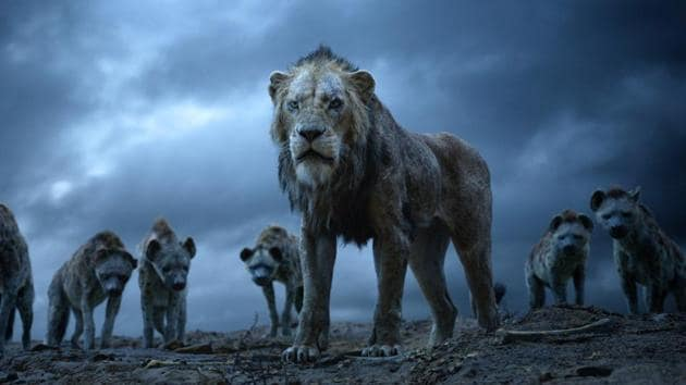 This image released by Disney shows Scar, voiced by Chiwetel Ejiofor, in a scene from The Lion King.(AP)