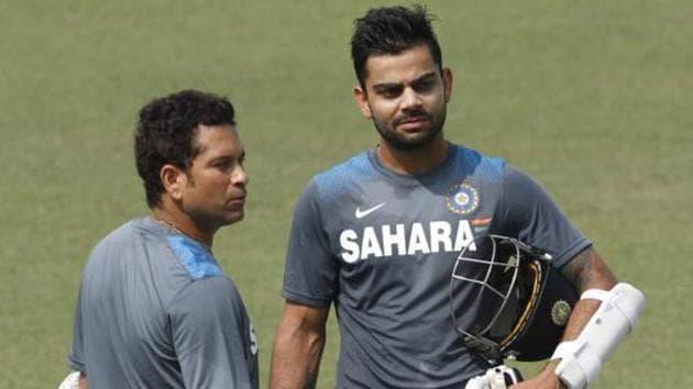 File photo of Sachin Tendulkar and Virat Kohli.(HT Photo)