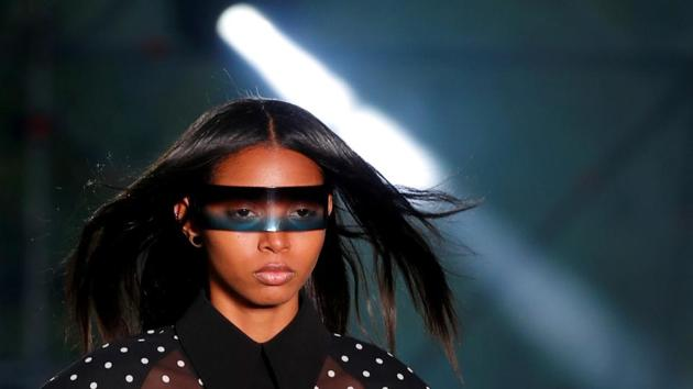 A model presents a creation by designer Olivier Rousteing as part of his Spring/Summer 2020 collection show for fashion house Balmain during Men's Fashion Week in Paris.(REUTERS)
