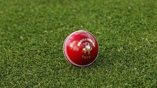 A general view of a Kookaburra turf four piece cricket ball.(Getty Images)