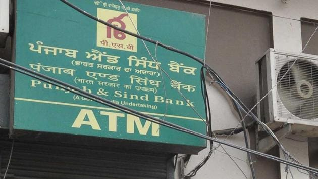 Some unidentified miscreants decamped with Rs 9.39 lakh after hacking an automated teller machine (ATM) of Punjab and Sind Bank (PSB) on GT Road near Putligar here.(Sameer Sehgal/ Hindustan Times)