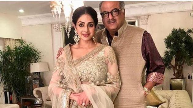 Boney Kapoor feels Sridevi is still around, taking care of them.