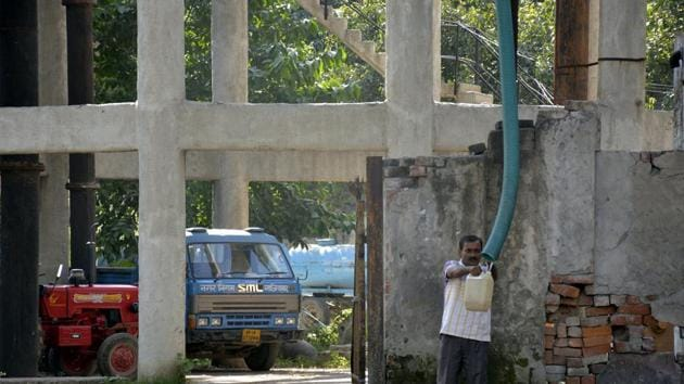 """The situation, according to groundwater department officials, has reached an alarming level and in another 5-6 years, city areas will experience a """"heavy shortage"""".(Sakib Ali /Hindustan Times (Representative image))"""