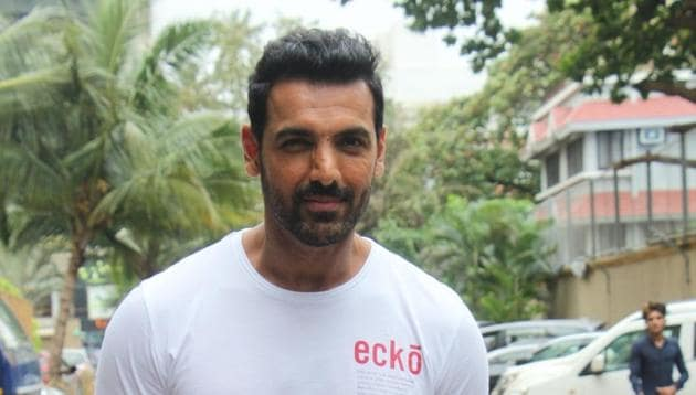 Actor John Abraham during media interactions for his upcoming film Batla House in Mumbai on Aug 7, 2019.(IANS)