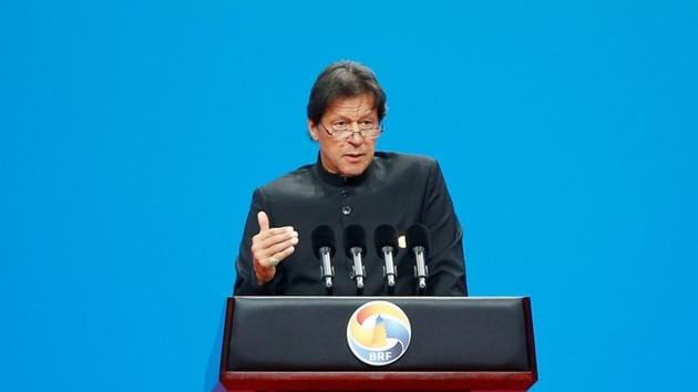 Pakistani Prime Minister Imran Khan made the remarks while addressing a special session of PoK's legislative assembly in Muzaffarabad.(REUTERS)