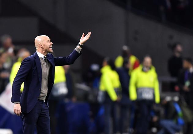 Ajax's head coach Erik Ten Hag.(AP)
