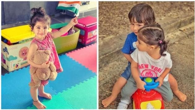 Soha Ali Khan'd daughter Inaaya celebrated a colourful Independence Day.