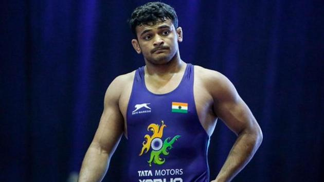 Deepak Punia India's 18-year-old gold drought at the Junior Wrestling World Championship.(Twitter)