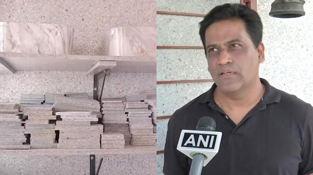 Prashant Lingam and his wife Aruna have decade-long experience in designing houses.(Twitter/@ANI)