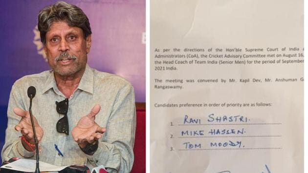 Kapil Dev-led CAC misspelled Mike Hesson's name while submitting their recommendation for the appointment of Indian cricket team head coach(HT Collage)