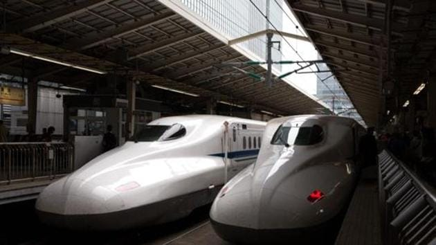 Shinkansen bullet trains are stopped at Tokyo Train Station. The Commission of Railway Safety (CRS), which certifies new rail tracks and trains in the country for safe operations, has no experience of certifying bullet trains and tracks, which are being introduced in India for the first time.(Getty Images)