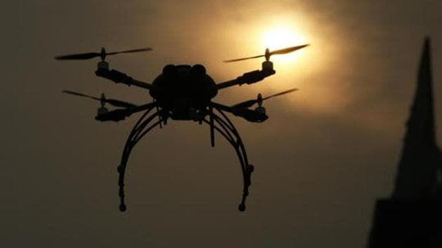 The civil aviation ministry is trying to figure out ways of ensuring that drones don't turn rogue and pose a security threat.(Representative Image/HT File Photo)