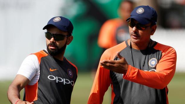 India coach Ravi Shastri with Virat Kohli.(Reuters)